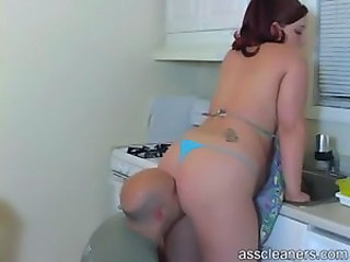 Ass Bikini Chubby Kitchen Licking MILF Tattoo