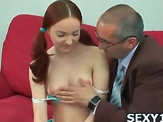 Old and Young Pigtail Redhead Small Tits Teacher Teen