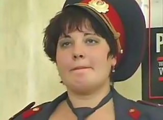 Chubby MILF Russian Uniform