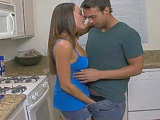 Hot mom deepthroats her son's...