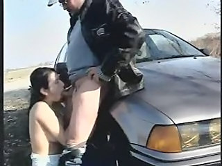 Amateur Blowjob Car Outdoor