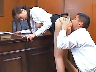 Asian Clothed Japanese Licking MILF Teacher