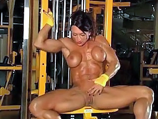 Big Tits MILF Muscled Silicone Tits Sport