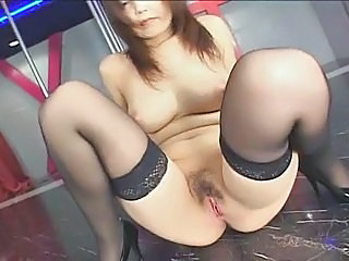 Asian Hairy MILF Stockings