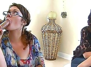 Blowjob CFNM Drunk Glasses MILF