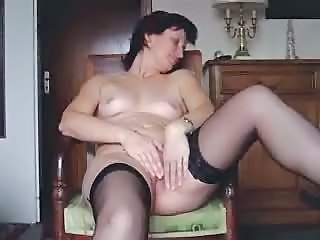 Amateur Masturbating Mature Stockings