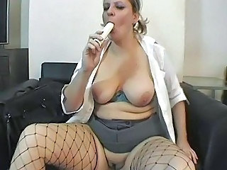 BBW British European Fishnet MILF SaggyTits Toy
