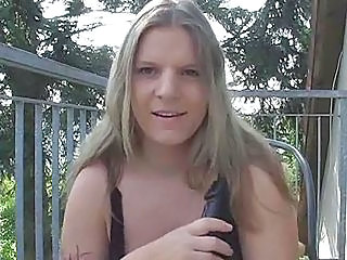 Dildo Masturbating MILF Outdoor Solo Toy