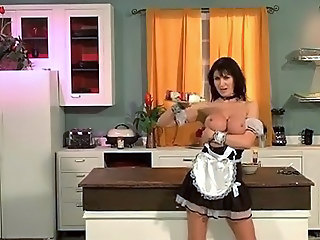 Big Tits French Kitchen Maid MILF Uniform
