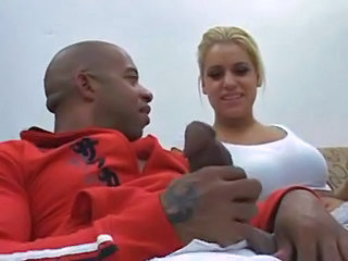 Babe Big cock Blonde Interracial