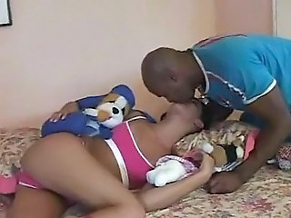 Ebony Kissing Teen