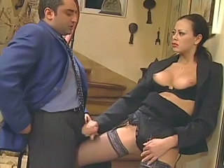 Amazing Handjob MILF Stockings