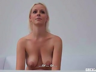 Blonde Casting SaggyTits