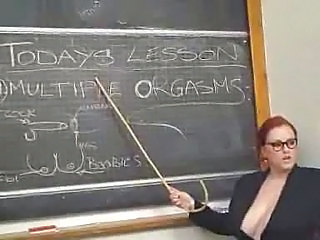 Big Tits Chubby Glasses MILF Redhead School Teacher