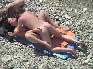 Beach MILF Nudist Outdoor Voyeur Wife