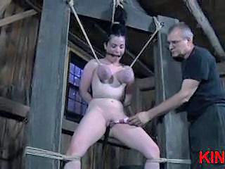 Pretty hot babe in hard bondage Sex Tubes