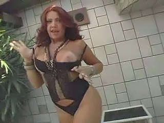 Brazilian Lingerie MILF Outdoor Redhead Smoking