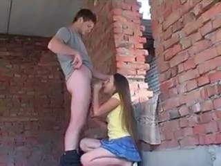 Blowjob Girlfriend Outdoor Teen