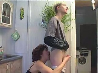 Handjob Kitchen Mom Russian