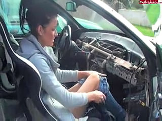 Amateur Car German Teen