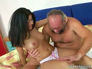 Brunette Old and Young Panty