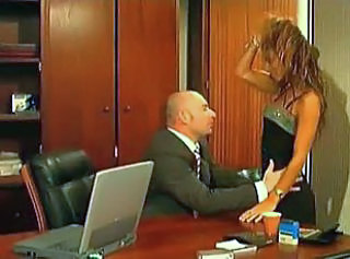 How wet and lubricated her holes become after hard office sex.