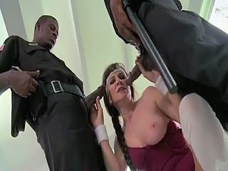 Handjob Interracial Mature Uniform