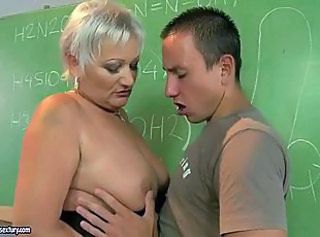 Granny Mature Mom Old and Young School Teacher