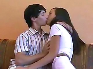 Amateur Girlfriend Kissing Young