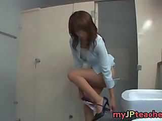 Asian Japanese MILF Teacher Toilet