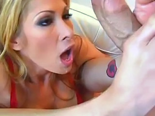 Blonde Blowjob MILF Pornstar Tattoo