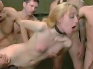 Blond wants to try a gangbang