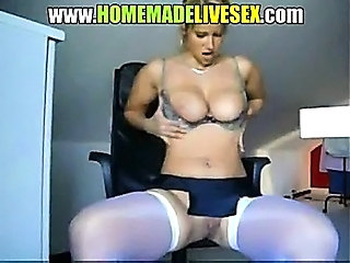 Big Tits Blonde MILF Natural Stockings Stripper Webcam
