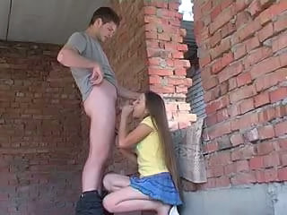 Amateur Blowjob Clothed Long hair Outdoor Skirt Teen