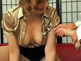 Clothed Lesbian MILF Strapon