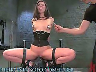 Pretty Girl Gets Brutal Bdsm Training