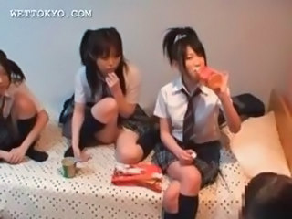 Asian School Teen Threesome