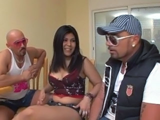 Cute Hardcore Latina Teen Threesome