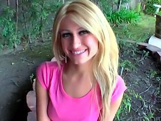 Amazing Blonde Outdoor Teen