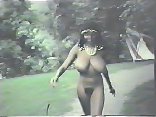 Big Tits Ebony MILF Natural Outdoor Vintage
