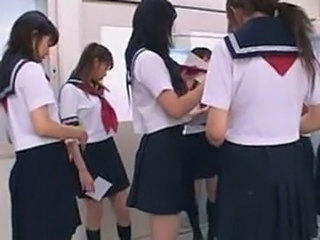 Asian Japanese Lesbian School Teen Uniform