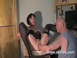 Brutally Fist Fucked Housewife Has Her Cunt Destroyed