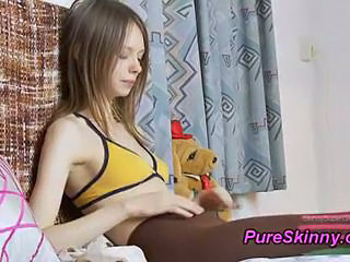 Pantyhose Skinny Solo Teen