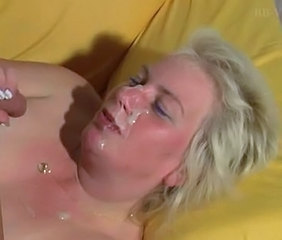 Blonde Cumshot Facial Mature