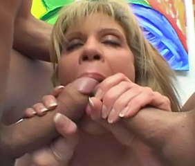 Big cock Blowjob MILF Threesome