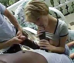Big cock Blowjob Interracial Outdoor Threesome