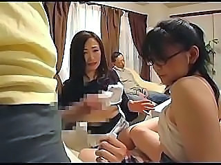 Asian Family Glasses Groupsex MILF