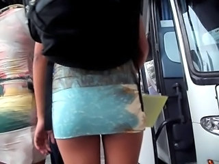 Ass Bus Skirt Voyeur