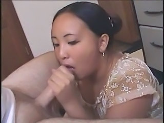 Asian BBW Blowjob MILF
