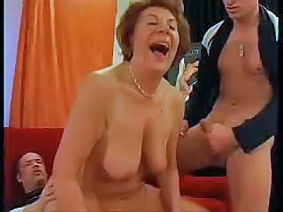 Horny Gilf Double Teamed